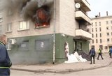 Įvardijo, kodėl kilo gaisras Vilniaus daugiabutyje