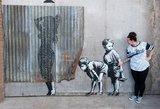 """Grafitininkas Banksy prabilo apie netikrą jo darbų parodą Maskvoje: """"Kas tai per velniava?"""""""