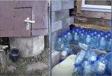 Rokiškiečių šeima parodė siaubingas gyvenimo sąlygas: vandenį veža buteliais