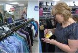 Į dėvėtų drabužių parduotuvę – kaip į darbą: tikrina kišenes