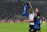 """Rezultatyvus Milano derbis baigėsi dramatiška """"Inter"""" pergale"""