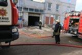 Autoservise Vilniuje – gaisras