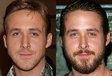 Kaip garsiausi Holivudo vyrai atrodo su barzda ir be jos?