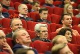 Pilna kino salė atsistojusi sveikino legendinį Lietuvos trenerį Vladą Garastą