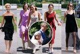 M. Kuzminsko vestuvėse – įspūdingas viešnių suknelių paradas