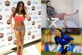 Sporto pasaulio gražuolės, prieš objektyvus pozavusios visiškai nuogos