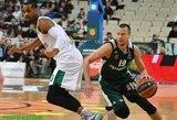 """""""Panathinaikos"""" laimėjo principinę dvikovą, Lukas Lekavičius – vienas rezultatyviausių"""