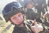Grožio konkursų spindesį iškeitė į tarnybą Lietuvos kariuomenėje