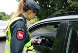 Paskutinį pavasario savaitgalį sulaikyta 217 neblaivių vairuotojų