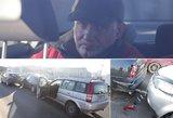Dideliu greičiu lėkęs visiškai girtas vyras Vilniuje sudaužė 3 automobilius
