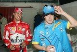"""Kodėl M.Schumacherio dominavimą nutraukęs F.Alonso buvo """"išspirtas"""" iš Formulės-1?"""