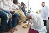Popiežius Velykų rituale – dėmesys pabėgėliams