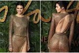 Nei nuoga, nei apsirengusi: Kendall Jenner pribloškė nuogybėmis