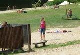 Bus įrengtas modernus Panemunės paplūdimys