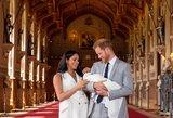 Suvirpins širdį: Markle ir princas Harry pirmąkart parodė savo kūdikį