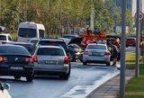Vilniuje susidūrus automobiliams pranešta apie nukentėjusiuosius