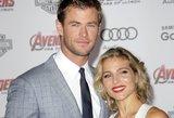 Filme Ch. Hemsworthui teko vaidinti kartu su žmona: repetavom 7 metus