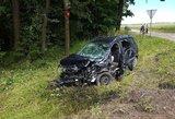 Baisi avarija Vilkaviškio rajone: sužaloti trys asmenys