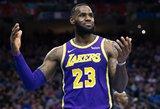 """LeBronui atkrintamąsias pasiekti bus sunku: """"Lakers"""" darkart krito namuose"""