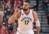 """Galingai žaidžiantis Jonas Valančiūnas pretendavo tapti savaitės žaidėju, bet laimėjo """"Bulls"""" lyderis"""