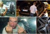 """Girtas prabangaus """"Mercedes"""" savininkas pamiegoti sustojo ant viaduko gatvės vidury"""