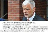 Pričiupo ministrą meluojant: pamynė įstatymą ir sulaužė savo priesaiką