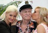 """Paviešino kadrus prieš mirtį: """"Playboy"""" įkūrėjas Hugh Hefneris – leisgyvis"""