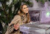 Gražuolė Viktorija Vaičaitė mėgavosi šalčiausiu malonumu mieste