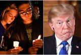 Skerdynių bažnyčioje sukrėstiems amerikiečiams D. Trumpas išrėžė, ko nereikėtų teisti