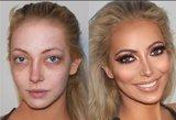 Vizažistas moteris pakeičia neatpažįstamai: išnyksta spuogai, sulygina odą – rezultatas stebina