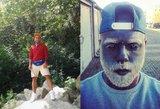 Vyras išsitatuiravo visą veidą pilkai ir nusidažė barzdą baltai