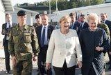 Lankydama karius Lietuvoje A. Merkel perspėjo dėl hibridinių išpuolių