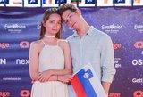 """Slovėnijos atstovų elgesys """"Eurovizijoje"""" šokiruoja: žurnalistai – pakraupę"""