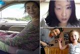 Ryškiausi 2015-ųjų metų vaizdo įrašai: gimdymas automobilyje, moksleivio akcentas