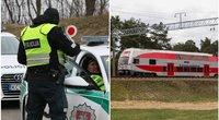 Stebėkite tiesiogiai: policija pristato, kaip tikrins tarp savivaldybių judančius traukinius (tv3.lt koliažas)