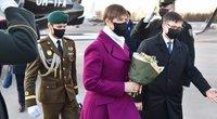 Estijos prezidentė Kersti Kaljulaid atvyko į Lietuvą (nuotr. Organizatorių)