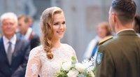 Sostinėje susituokė TV3 sporto žinių vedėja Patricija ir jos mylimasis Justas (nuotr. Fotodiena/Justino Auškelio)