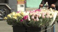 Floristai: tokios liūdnos Valentino dienos dar nematėme (nuotr. stop kadras)