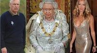 Princas Andrew, karalienė Elizabeth II ir Caprice Bourret  (tv3.lt fotomontažas)