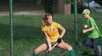 Europos moterų žolės riedulio čempionatą lietuvės pradėjo pralaimėjimu lenkėms. (nuotr. Alfredo Pliadžio)