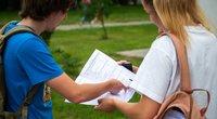 Abiturientai laikė matematikos valstybinį egzaminą (nuotr. Fotodiena/Justino Auškelio)