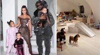 Kim Kardashian vaikų žaidimų kambarys (tv3.lt fotomontažas)