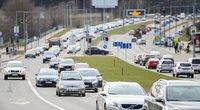 Lietuviai automobiliais važiavo rečiau (nuotr. Fotodiena/Justino Auškelio)