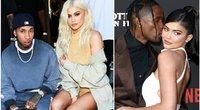 Tyga, Kylie Jenner ir Travis Scott (tv3.lt fotomontažas)