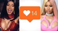 """Cardi B ir Nicki Minaj pasisako prieš """"Instagram"""" atnaujinimą (tv3.lt fotomontažas)"""
