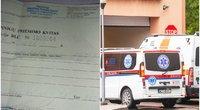 Į priėmimo skubios pagalbos skyrių atvykęs vyras sulaukė kvito su reikiama sumokėti suma (tv3.lt koliažas)
