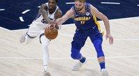 """Sabonis liko šalia aštuntojo sezono trigubo dublio, bet """"Pacers"""" tai nepadėjo (nuotr. SCANPIX)"""