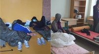 Nelegalūs migrantai Kapčiamiestyje (tv3.lt koliažas)