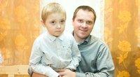 Adomas Dimša su tėčiu Arvydu (nuotr. Tv3.lt/Ruslano Kondratjevo)
