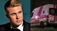Paulius Pagdanavičius ir greitosios pagalbos automobilis (tv3.lt fotomontažas)